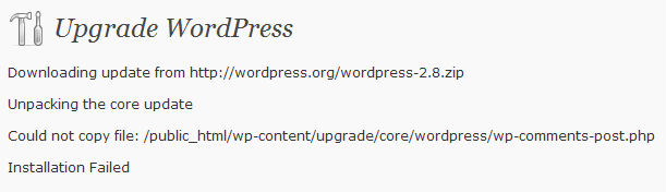 Installation-Failed-Wordpress2.8