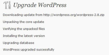 wordpress2.8-successfully-installed