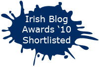 Irish Blog Awards 2010 - Shortlisted Badges