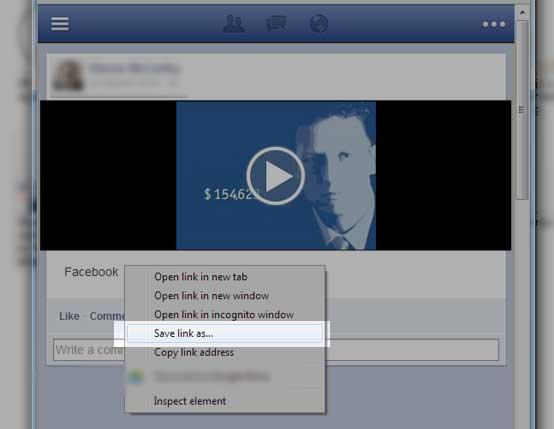 Download Facebook videos - saving to computer